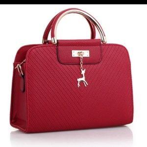 Satchel Handbag with Charm